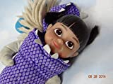 2001 Monsters Inc Boo in Monster Outfit Plastic Face and Realistic Eyes Plush Doll