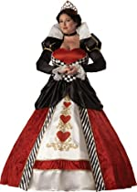 Big Sale InCharacter Costumes, LLC Women's Queen Of Hearts Costume with Hoop and Tulle Petticoat, Red/White/Black, XX-Large