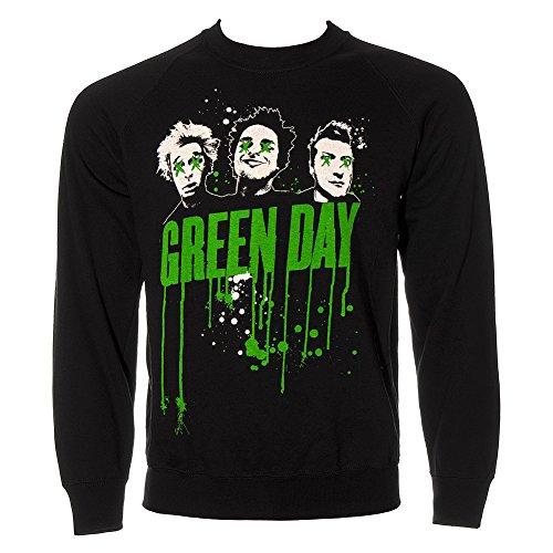Felpa Green Day Gocciolature (Nero) - Small