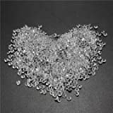 1000pcs 4.5mm Table Crystal Diamond Acrylic Crystals Diamonds Wedding Party Decoration-Silver