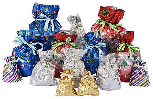 giftmate gro es set geschenkt ten mit zugband f r weihnachten schnelle verpackung f r. Black Bedroom Furniture Sets. Home Design Ideas