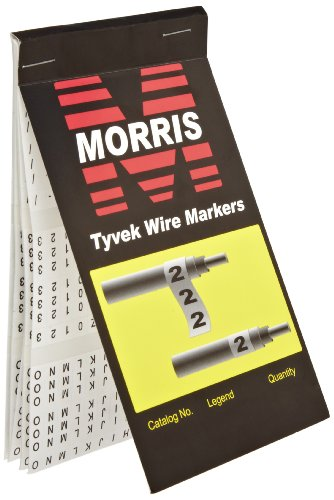 morris-products-21256-wire-marker-booklet-tyvek-a-z-0-15-markings