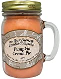 Pumpkin Cream Pie Scented 13 oz Mason Jar Candle - Made in the USA by Our Own Candle Company