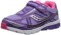 Saucony Girls Baby Ride Sneaker (Toddler/Little Kid),Purple,11 M US Little Kid