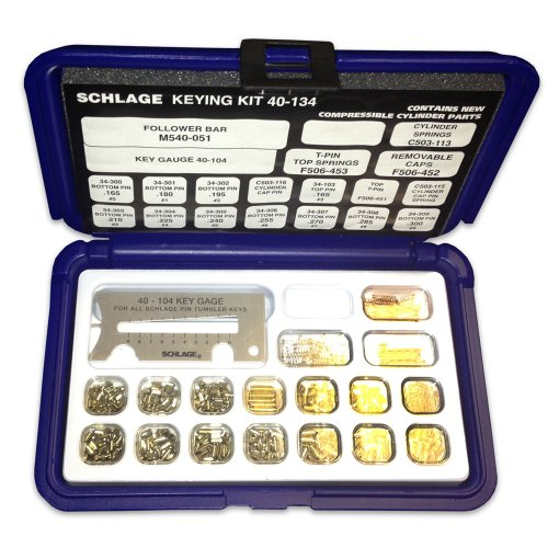 Schlage 40 134 Pin Kit With Snap Tight Plastic Box New Ebay