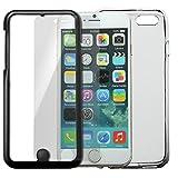 NATURALdesign iPhone6専用 Perfect Gard (ガラスフィルム+ハイブリッドTPUケースセット) 液晶も裏面もがっちりガード 9H 極薄0.2mm ラウンドエッジ加工 高透過ガラスフィルム 貼り付けキット付属 iP6_Perfect_G