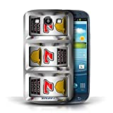 STUFF4 Phone Case Cover for Samsung Galaxy S3SIII Sevens Design Slot Machine Collection