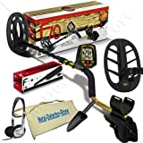 "Fisher F70 Pro Coins Gold Metal Detector w/ 10"" & 11"" Search Coils, Pinpointer, Headphones, Finds Apron, Digging Trowel"