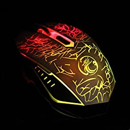 Pink Lizard Estone X5 USB Wired 800/1200/1600/2400 DPI Gaming Mouse with LED Breathing Light