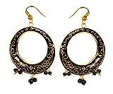 Rajasthani Meenakari Jhumki - bali -Traditional Handcrafted Fashion EarringsFor Women And Girls Jewellery (black)