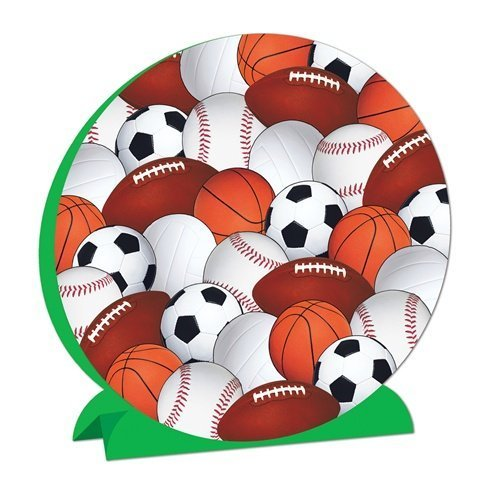 Beistle 57346 3-D Sports Centerpiece - Pack of 12