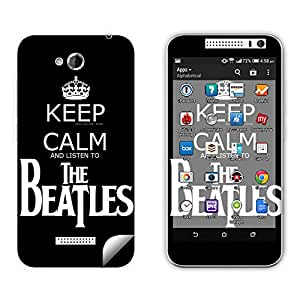 Skintice Designer Mobile Skin Sticker for HTC Desire 616 , Design - Keep Calm