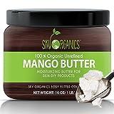 Best Raw Mango Butter by Sky Organics 16oz- 100% Pure, Unrefined, Organic Mango Butter-Skin Nourishing, Moisturizing & Healing, for Dry Skin, Hair Shine – For Skin Care, Hair Care & DIY- Made in USA