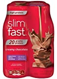 SlimFast High Protein Creamy Chocolate Ready To Drink Shakes, 4 Count by Slim-Fast