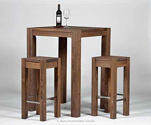 bartisch 2 barhocker hochtisch bistrotisch stehtisch rio bonito 80x80cm pinie. Black Bedroom Furniture Sets. Home Design Ideas