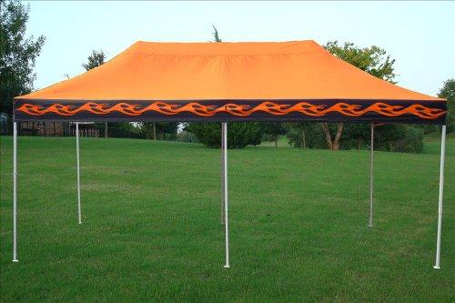 10'x20' Pop up 6 Walls Canopy Party Tent Gazebo Ez Orange Flame - E Model By DELTA Canopies
