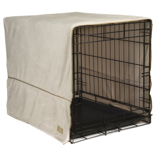 Pet Dreams 42 By 28-Inch Plush Crate Cover, X-Large, Ivory front-674841