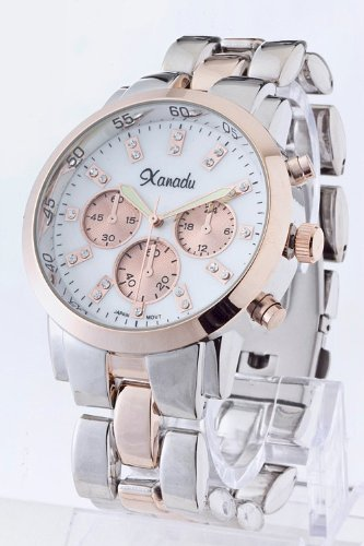 Baubles & Co Chronograph Bracelet Watch (Copper/Silver)