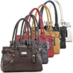 Catwalk Collection Leather Handbag -...