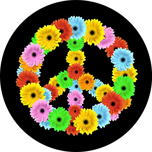 Flower power Spare Tire Cover for Jeep RV and more (Select from popular sizes in drop down menu or contact us-ALL SIZES AVAILABLE) (Jeep Tire Cover Flower compare prices)