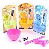 Women Face Skin Care Mask Mixing Bowl Stick Brush Pink Tool 6 in 1 Set
