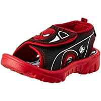 Spiderman Boy's Black and Red Sandals and Floaters - 8 kids UK/India (26 EU)
