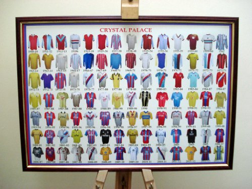 CRYSTAL PALACE FC FRAMED FOOTBALL SHIRT POSTER THROUGH THE AGES