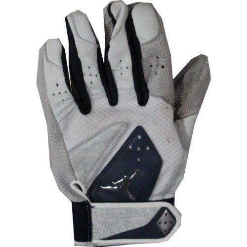 Derek Jeter 2012 White/Blue Game Used Batting Glove (Single) front-830390