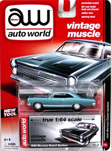 Auto World Vintage Muscle 1966 Mercury Comet Cyclone - Light Blue - 1