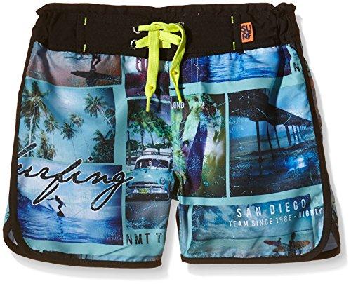 NAME IT Nitzan Kids Short Shorts 216, Pantaloncini da Bagno Bambino, Multicolore (Black), 116