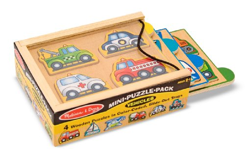 Melissa & Doug Vehicles Mini-Puzzle Pack
