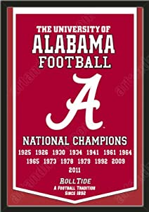 Dynasty Banner Of Alabama Crimson Tide-Framed Awesome & Beautiful-Must For A... by Art and More, Davenport, IA