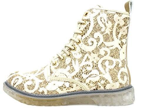 Cafè Noir Stivaletto Sneaker Donna Pizzo Beige Oro-39