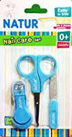 Natur Nail Clippers Set with Scissors and File: Complete Manicure Set for Any Child Age, Newborn 0+ or Infant.Nursery Bath Care & Shower Gift Kit by Natur