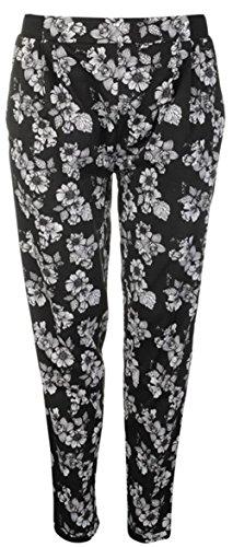 Lee Cooper -  Pantaloni  - Donna Blk Grey Floral 42