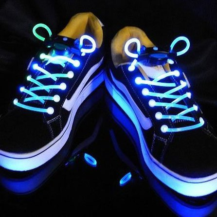 LED NEON Shoe Lace Lights Flashing Shoelace Fits all shoes (Colors May Vary)