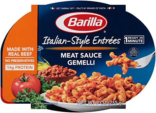 Barilla Italian Entrees, Meat Sauce Gemelli, 9 Ounce (Pack of 6) (Packaged Meals compare prices)