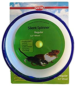Kaytee Hamster Silent Spinner, 6 1/2 inch Exercise Wheel, Colors Vary