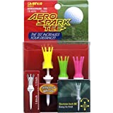 "Aero Spark Golf Tees - 2.7"" Regular - 3 Pack (Bright Colors)"