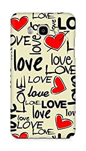Amez designer printed 3d premium high quality back case cover for Samsung Galaxy J7 - 6 (New 2016 Edition) (Love art texture colorful heart)