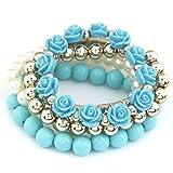 Shining Diva Fashion Pretty & Trendy Blue Roses Bracelets for Girls