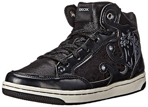 Geox Jr Creamy A, Sneaker, Ragazza, Black, 31