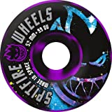Spitfire Spaced Out 52mm Black Purple Swirl Skateboard Wheels (Set of 4) by Spitfire