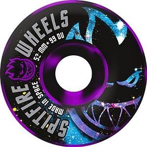 Buy Spitfire Spaced Out 52mm Black Purple Swirl Skateboard Wheels (Set of 4) by Spitfire