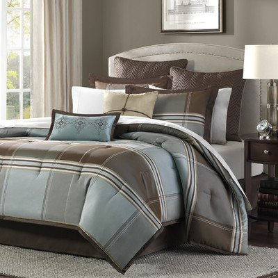 Lincoln Square 8 Piece Comforter Set Size: Queen front-844573
