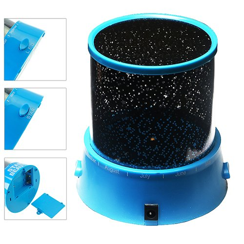 GPCT LED Night Light Stars Projector Lamp Colorful Stars Projection (Blue) - 1