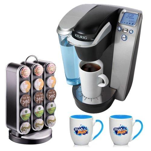 Keurig Platinum B70 Gourmet Single Cup Coffee & Tea Brewing System Black + Coffee Pod Carousel (Black) + Accessory Kit