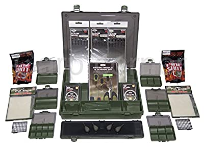 Carp Fishing Tackle Box Loaded With PVA Leads Rigs Wallet Small Boxes Baiting by Carp Corner