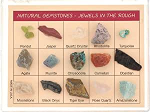 Natural Gemstones Rock Set - Jewels in the Rough - Descriptions Included
