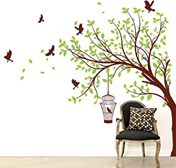 Adesivo sticker murale albero d 39 estate misure 165x150 - Albero su parete ...